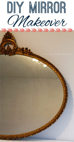 Need an easy way to repaint a frame without removing the inside? Check out this tutorial on how to easily do a mirror makeover using paper and a knife.