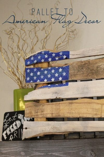 Pallet to American Flag Decor   Create your own 4th of July decor using just a pallet and some paint! Check it out here!