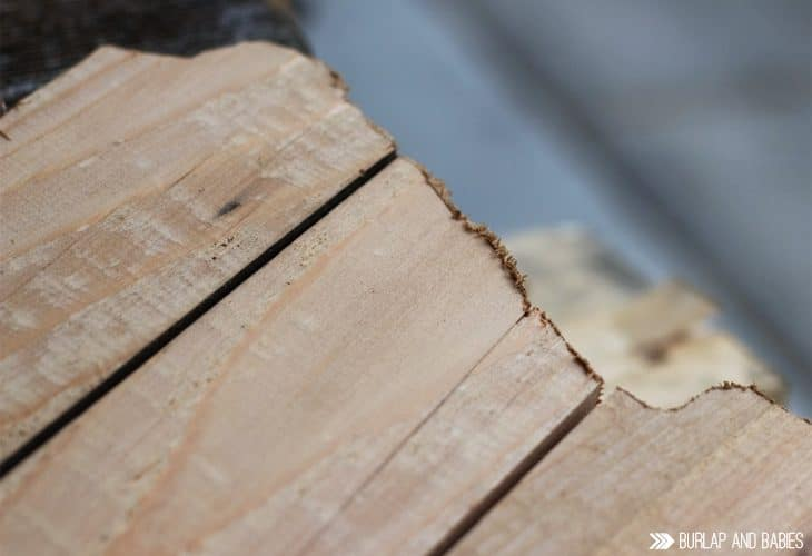 Wood planks with rough edges image.