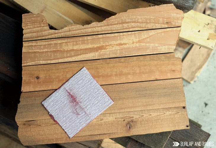 Wood in the shape of a state image.