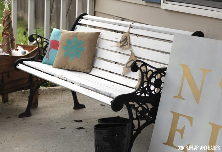 Weathered Bench Makeover. Use this simple technique to naturally wear down any furniture. Check it out here!