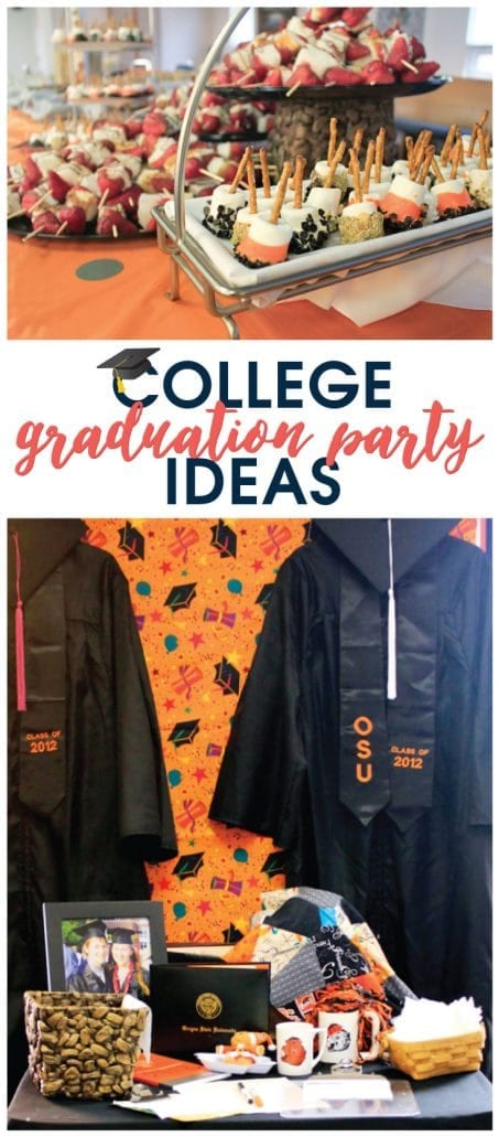 Check this out for many creative college graduation party ideas full of DIY projects and graduation party dessert ideas.