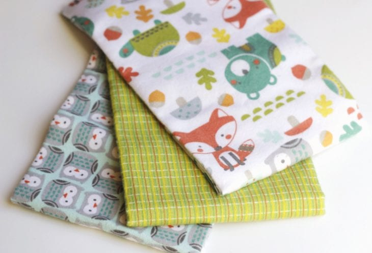 Materials on how to make a tag blanket image.