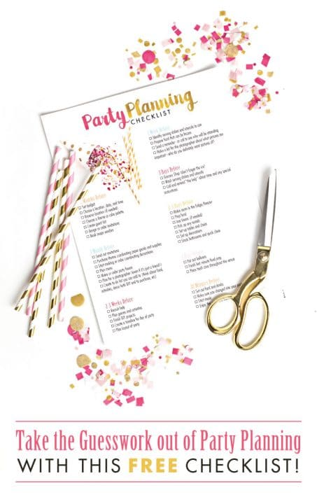 Love party planning but often forget tasks you should have thought of months ago? ME TOO! Take the guesswork out of party planning with this FREE comprehensive checklist!