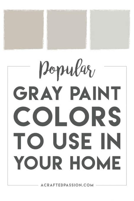 Popular Gray Paint Colors To Use In Your Home