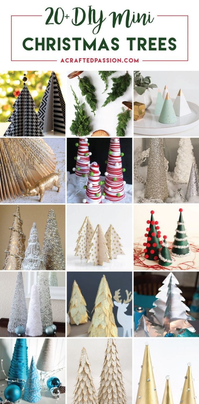 20+ DIY Mini Christmas Tree Decor Ideas — Make these simple mini Christmas trees perfect to include every year with your Christmas decorations.