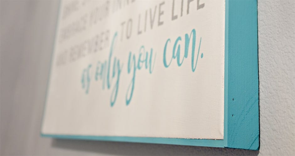 Image quote on wall image.