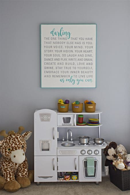 Quote wall art image.