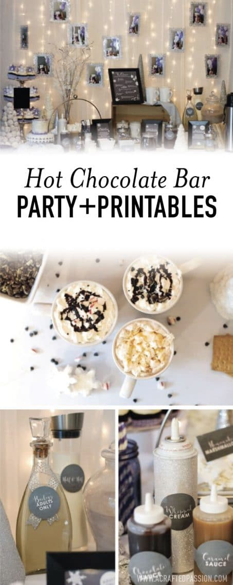 Hot chocolate bar party image.