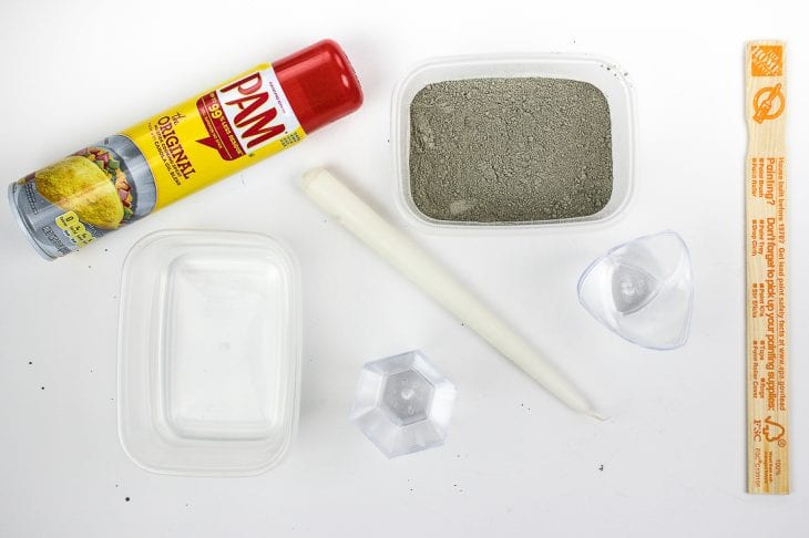 Cement candle holder supplies