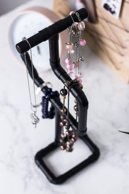 Top view of necklace holder