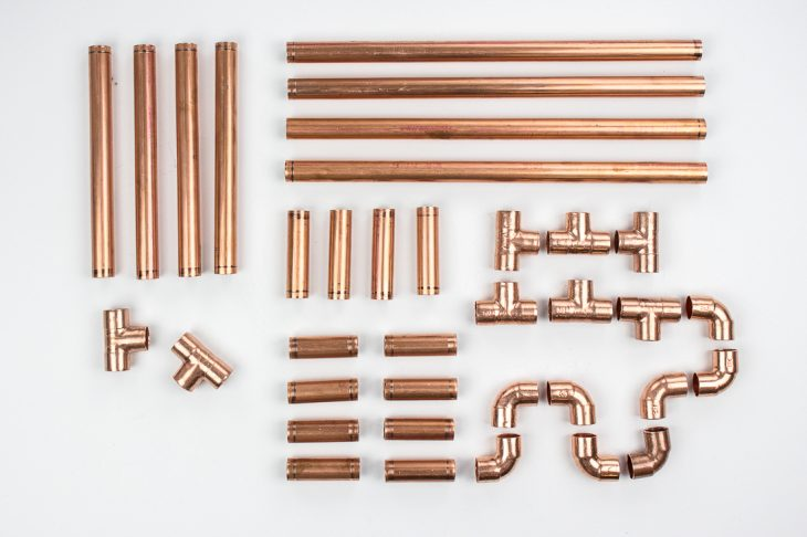 Image of cut pipe supplies