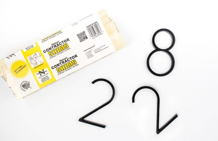 Image of modern house number sign supplies