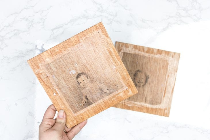 Image of transfer photo to wood