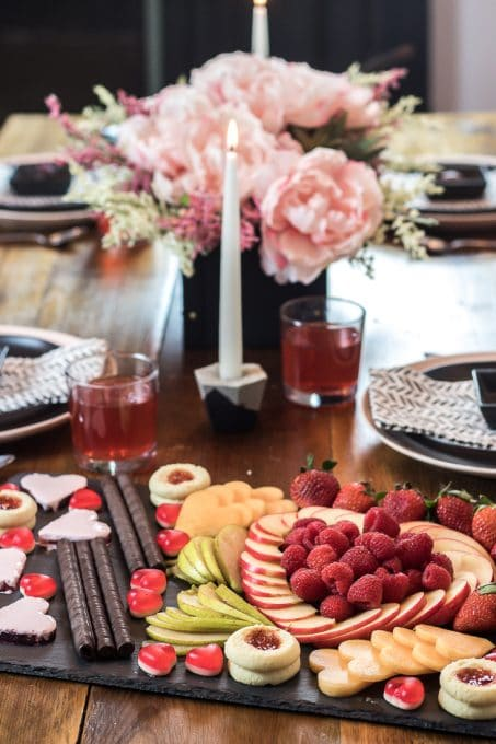 Image of Valentine's dinner table