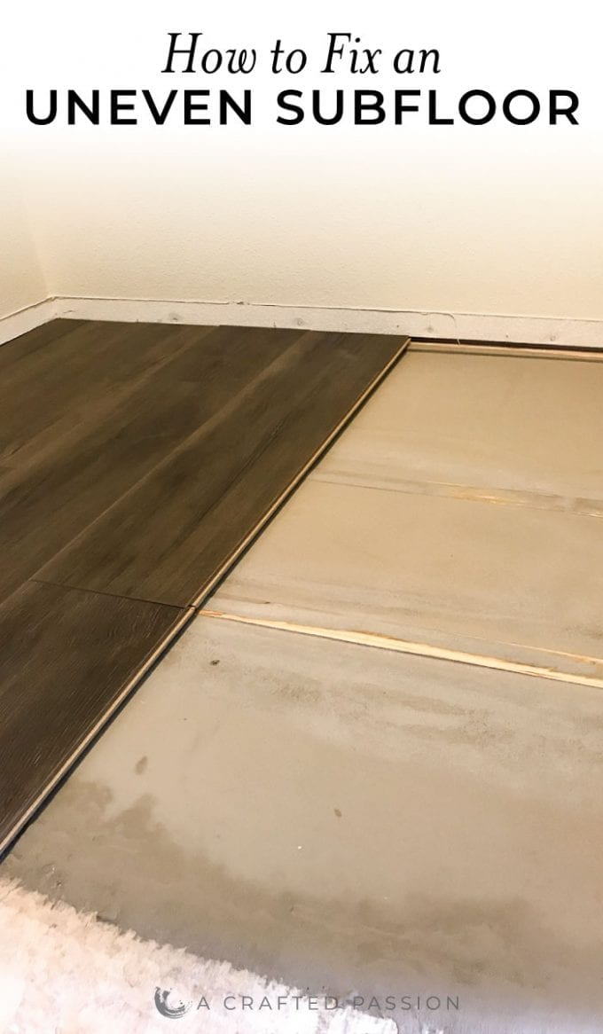 How To Fix An Uneven Suloor Diy, How To Install Laminate Flooring On Uneven Concrete Floor