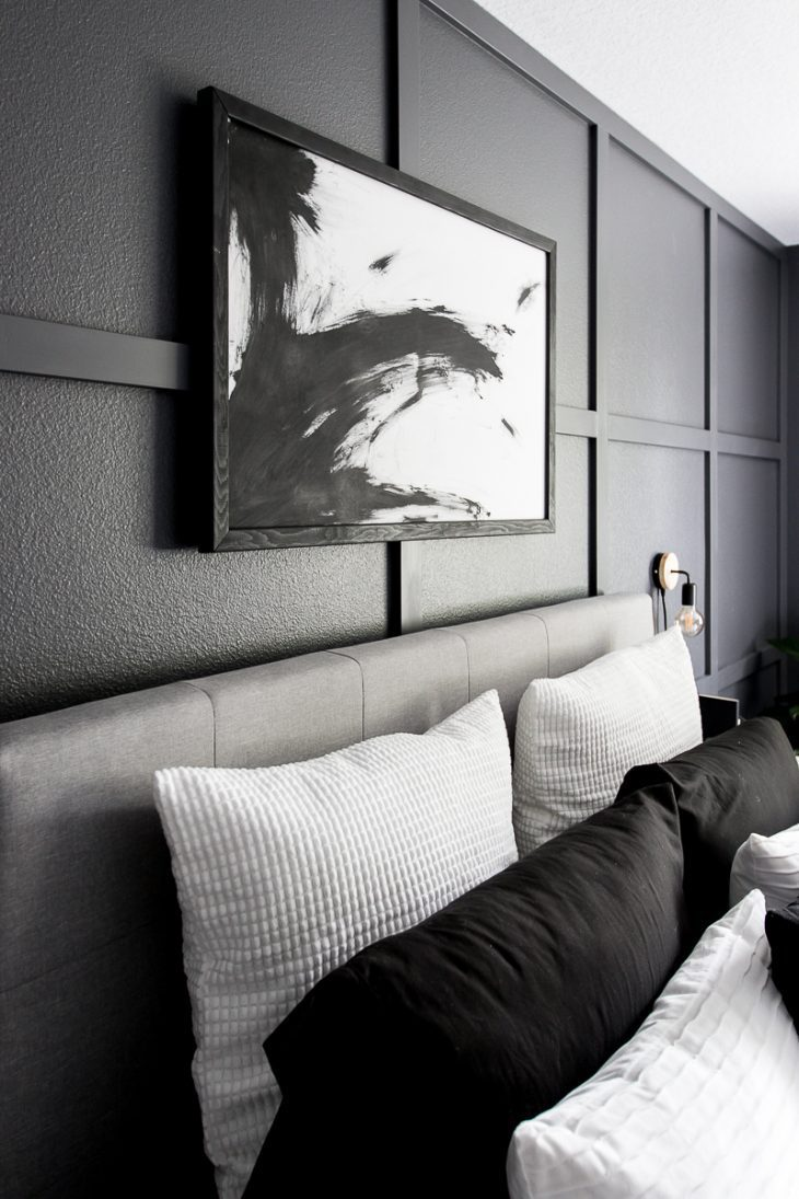 Modern bedroom abstract painting