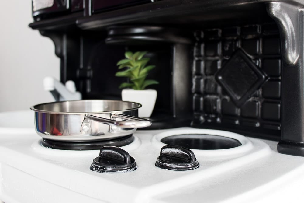 Image of Play kitchen makeover pots