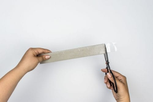 Image of concrete picture stand cut