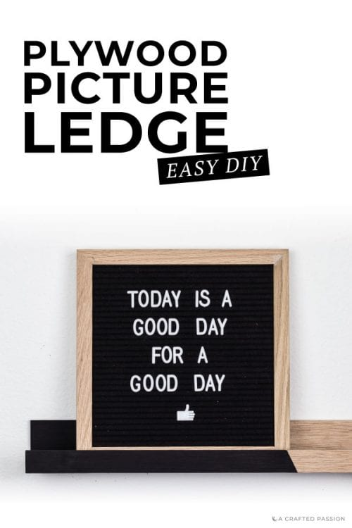 Using a plywood you can create an awesome diy picture ledge. Here's the easy and simple how-to. #diyshelf #plyqoodproject