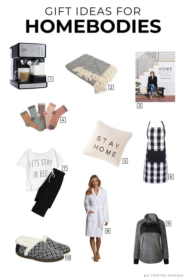 For the person who enjoys staying home, slips into sweatpants within a minute of getting home, and is often snuggled up in a blanket...this gift guide is for them. These gifts for homebodies are perfect for the person who enjoys the simple pleasures of being at home.#giftguide #gifts #homebody