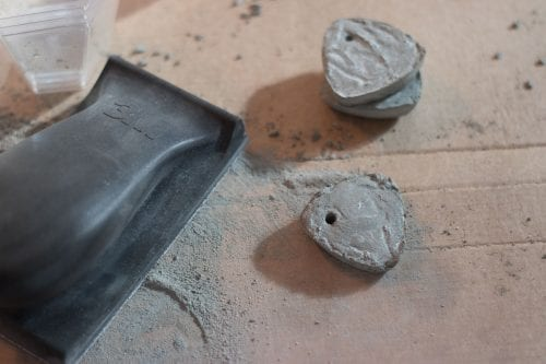 Image of ornaments being sanded