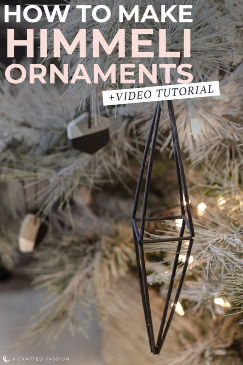 Learn how to make himmeli ornaments for your Christmas decor. These handmade Finnish-inspired Christmas tree ornaments are so easy and cheap to make, plus the geometric look adds a modern edge to your tree.#christmasornament #ornament #himmeli