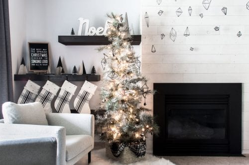 Image of Christmas decor in a living room
