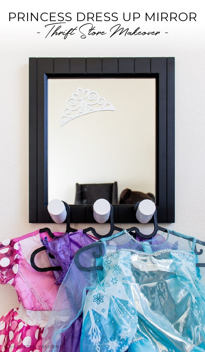 Do you know a little girl who loves to play dress up? See how I transformed this old mirror into a perfect little girls' dress up mirror.
