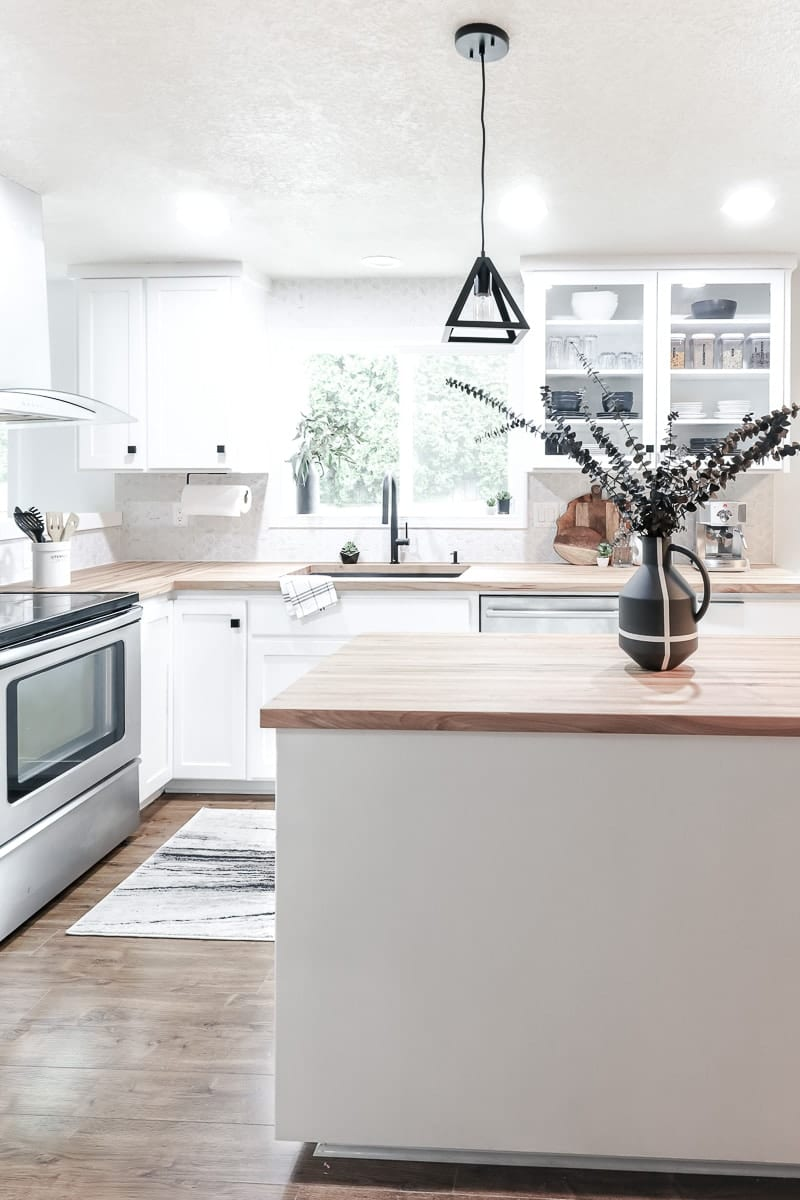 Image of contemporary kitchen island
